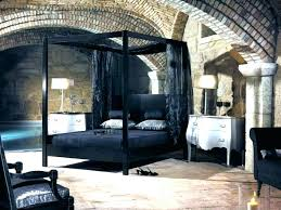 Black Canopy Bed Beds Steel Frame Blackout Curtains – Pictures House ...