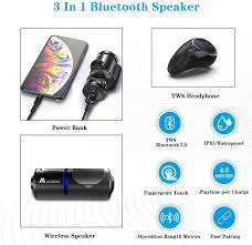 ACADGQ Mini 3 in 1 Portable Bluetooth Speaker with Long: Amazon.de:  Elektronik