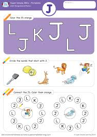 Included in your teacher account is access to 220 free phonics worksheets to use as a whole class. Letter Recognition Phonics Worksheet J Uppercase Super Simple