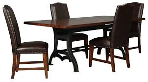 dining room furniture nora table and 4 bonded leather side chairs