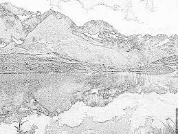 Coloriage Paysage De La Vallee Du Vallegaudemard Lac Du Lozon