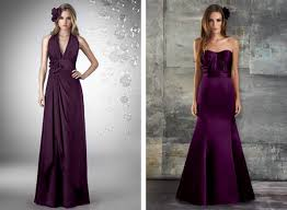 Designers Are Making It Easy For Both Brides And Bridesmaids By Eggplant Dresses For Weddings