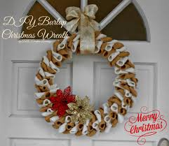 Burlap Crafts Burlap Christmas Wreath Abc Creative Learning Sugar Bee Crafts