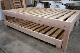 Queen Bed With Twin Trundle Wood — Jonathant Beds : All the ...