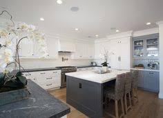 Beautiful White Kitchen With Blue Backsplash Cool Kitchens