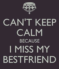 I Miss My Best Friend Quotes And Sayings Cant Keep Calm Because I