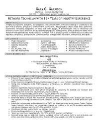 Network Technician Sample Resume Extraordinary Network Technician