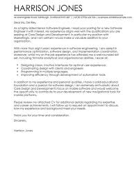 Best Ideas Of Software Engineer Cover Letter Examples For