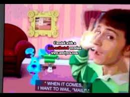 blue s clues what does blue want to do on a rainy day. Interesting Clues Mailtime What Does Blue Want To Do With Her Picture S Clues On A Rainy Day T