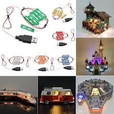 <b>Universal diy led</b> light brick kit for lego moc toys usb port blocks ...