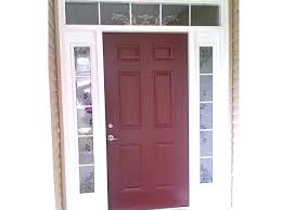 door glass inserts and frames wen exterior with blinds