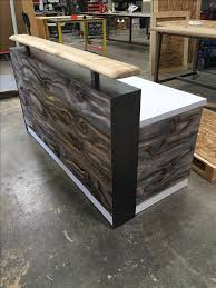 white wood desk top. Beautiful Desk Custom Made 64 White Desk Top Distressed Wood With Riser Piece And