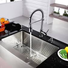 Kitchen Simple Designed Fruits Bowl Placed On Monochromatic Different Types Of Kitchen Sinks