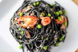 Squid ink pasta, Lobster pasta recipe ...