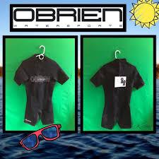 New Obrien Shorty Neoprene Black Wetsuit Sz Sm Nwt