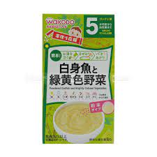 Bột ăn dặm WAKODO 3 vị rau củ 5 tháng Nhật nội địa