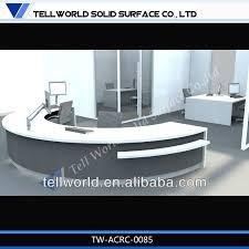 latest design half round office small front desk designs half circle reception desk