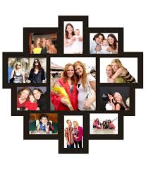 trendzy decor black wood matte finish 11 in 1 wall photo frame collage