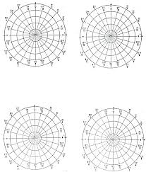 Polar Grid Of Concentric Circles And Degrees Steps Blank