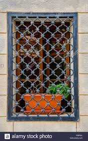 Decorative Security Grilles For Windows Wrought Iron Bars Stock Photos Wrought Iron Bars Stock Images