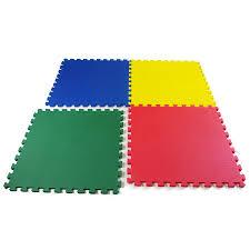 Interlocking Rubber Floor Tiles Kitchen Floor Design Handsome Square Textured Light Grey Interlocking