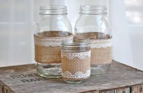 Burlap Mason Jar Mason Jars Pinterest Within Elegant Burlap Mason Photo  Details - From these ideas