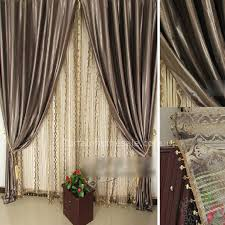 Suede Fabric Thermal and Blackout Coffee Modern Office Curtains