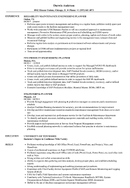 Engineering Planner Resume Samples Velvet Jobs