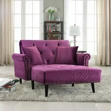 classic modern velvet recliner sleeper