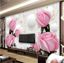 40d Rose Flower Modern Minimalist TV Wall Painting Sofa Living Room Fascinating Wall Painting Designs For Bedroom Minimalist