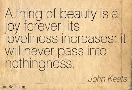 A Thing Of Beauty Is A Joy Forever Quote Best Of A Thing Of Beauty Is A Joy Forever Quotesvalley