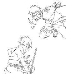 Naruto Vs Sasuke Coloring Pages Anime Naruto Vs Sasuke Naruto