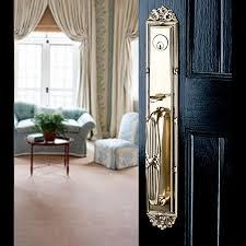 emek gold door handle black door