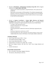 search engine marketing resume resume search engine