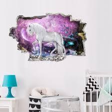 3d horse wall sticker starry sky