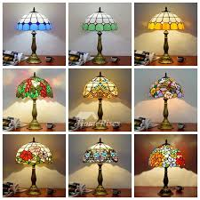 tiffany style table lamp beautiful vintage stained glass lighting fixture hois64898 6 jpg