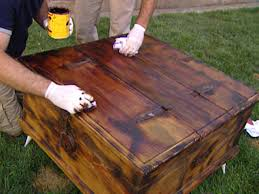 Rustic Furniture Stain Giving Furniture A Chic Rustic Look Hgtv