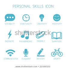 Personal Skills For Resume Custom Personal Skills Icon Self Characteristic Vector Stock Vector
