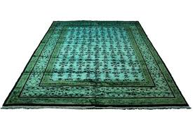 overdyed turquoise rug threshold green fl wool