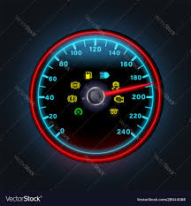 Yellow Light On Speedometer Bright Neon Digital Speedometer With Light