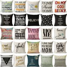 decorative pillows with words. Fine With New Fashion Funny Words Pillowcase Geometric Letter Pillow Cases Home  Simple Colorful Love Is Sweet Throw And Decorative Pillows With D