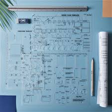 Interior Design Drafting Templates Mr Pen Architectural Templates House Plan Template
