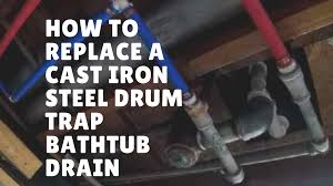Bathtub bathtub drum trap : How to Replace a Cast Iron Drum Trap Bathtub Drain with PVC ...