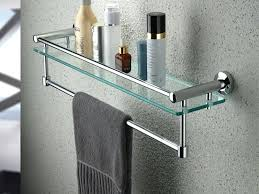 shelf with towel bar glass shelf towel bar com in shelves with plan shelf above towel
