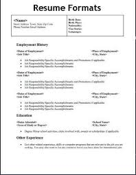 Different Types Of Resume Format Free Download Types Of Resume Format 2 Resume Format Resume Format Resume