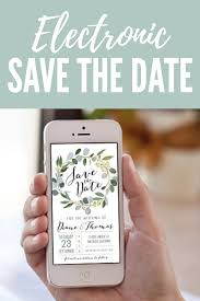 Electronic Save The Date Eucalyptus Save The Date Digital