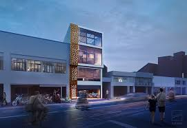 office facade. The Design Of Facade Modern Office Building In Colombia « AddLine Group E