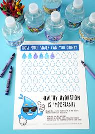 How Much Water Should I Drink A Day Chart Healthy Hydration Water Tracking Chart Happiness Is Homemade