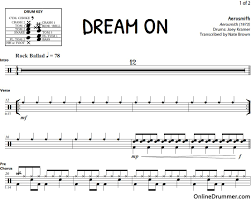 drums sheet music dream on drum sheet music drums pinterest sheet music drums