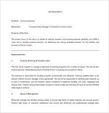 Sales Executive Job Description Account Executive Job Description Template 9 Free Word Pdf